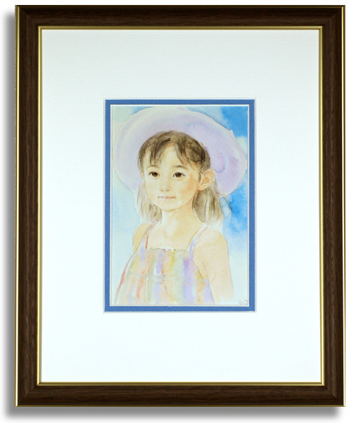 おおた慶文のポストカード額装「虹の少女」額装