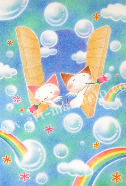 Sakuraの版画「Peace of my wish」、版画の通販専門店アート・マルメロ