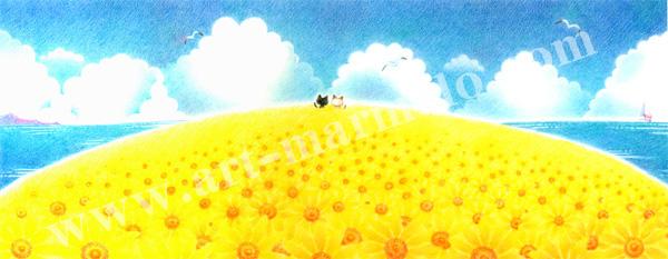 Sakuraの版画「Summer Days」、版画の通販専門店アート・マルメロ