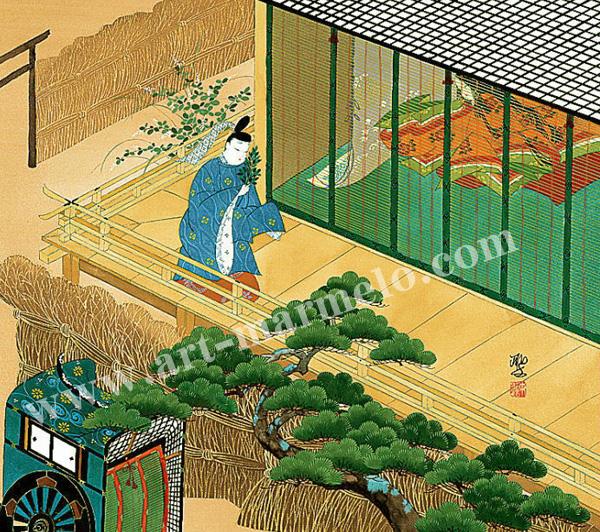 東聖観「野宮(ののみや)詣で」源氏物語色紙