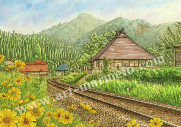 松本忠の版画「初夏の旋律」