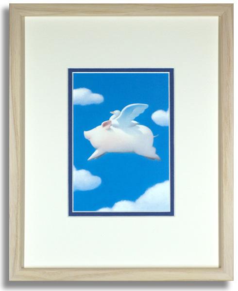 渡辺宏「天使にあこがれて」額装