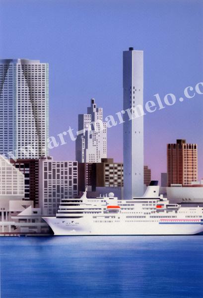 矢道瞬の版画「CityⅣ」、版画の通販専門店アート・マルメロ