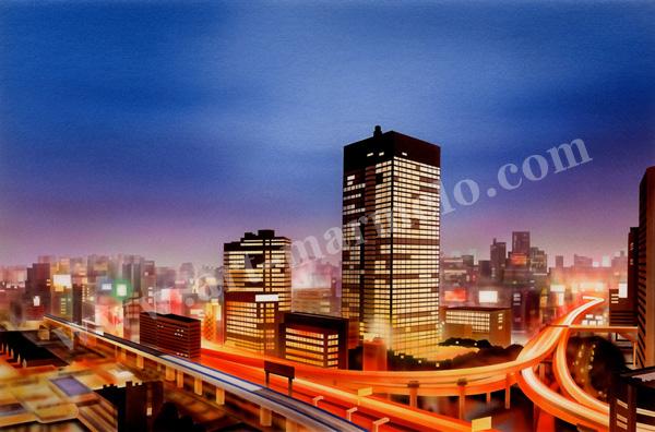 矢道瞬の版画「CityⅥ」、版画の通販専門店アート・マルメロ