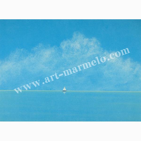 葉祥明の版画「海の伝説」