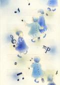 蓮田千尋の原画「Blue Note」