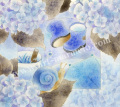 蓮田千尋の原画「rain・rain」