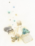 蓮田千尋の原画「雨の歌」