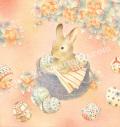 蓮田千尋の版画「Easter」
