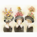 蓮田千尋の版画「春に」
