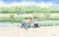 金井千絵の版画「おたまじゃくし」