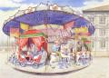 金井千絵の版画「メリーゴーランド」