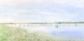 金井千絵の版画「変わらぬ情景」