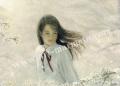 万葉睦月の版画「綺麗な風」L