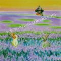 栗乃木ハルミの版画「ラヘンダー」