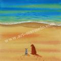 栗乃木ハルミの版画「友情�」