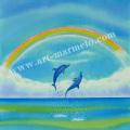 栗乃木ハルミの版画「虹�」