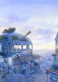 待井健一の版画「ひととき」、版画の通販専門店アート・マルメロ