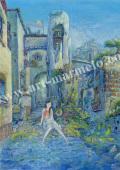待井健一の版画「夏の思い出」、版画の通販専門店アート・マルメロ