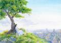 待井健一の版画「時間の丘」、版画の通販専門店アート・マルメロ
