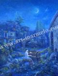 待井健一の版画「青の旋律」、版画の通販専門店アート・マルメロ