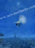 待井健一の版画「二十五時の夢」、版画の通販専門店アート・マルメロ