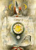 牧野鈴子の版画「開幕」