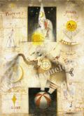 牧野鈴子の版画「星降らす象」