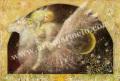 牧野鈴子の版画「ペガサス」