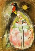 「選択 親指姫」牧野鈴子の版画