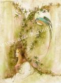 「慕情」牧野鈴子の版画