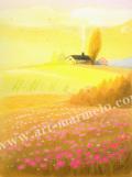 大西秀美の版画「クリームシチュー」