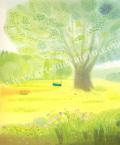 大西秀美の版画「水色のうた」、版画の通販専門店アート・マルメロ