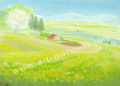 大西秀美の版画「ひかりうた」、版画の通販専門店アート・マルメロ