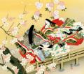 東聖観「橋姫宇治に咲く華」源氏物語色紙