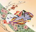 東聖観「梅枝春への薫り」源氏物語色紙