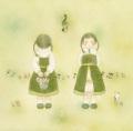 蓮田千尋の版画「Spring green」200