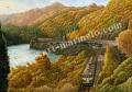 松本忠の版画「ふるさとの秋は変わらず」