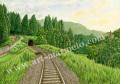 松本忠の版画「六月の旅路」