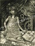 高田美苗の版画「コッペリア」