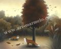 梅川紀美子の版画「時の染物」
