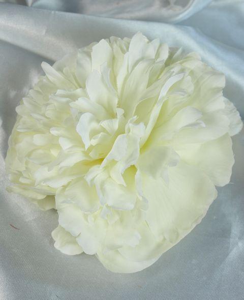 【コサージュ&髪飾り・2WAYタイプ】マシュマロピオニー/ホワイト