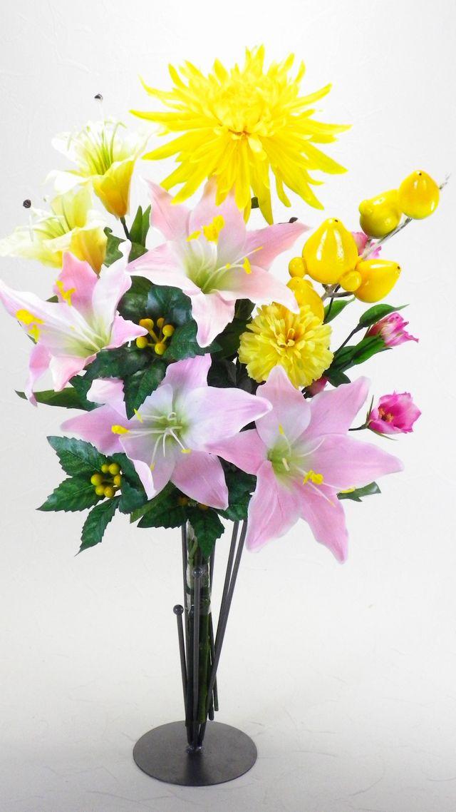 【造花 供花】シンプルミックス仏花D-1束