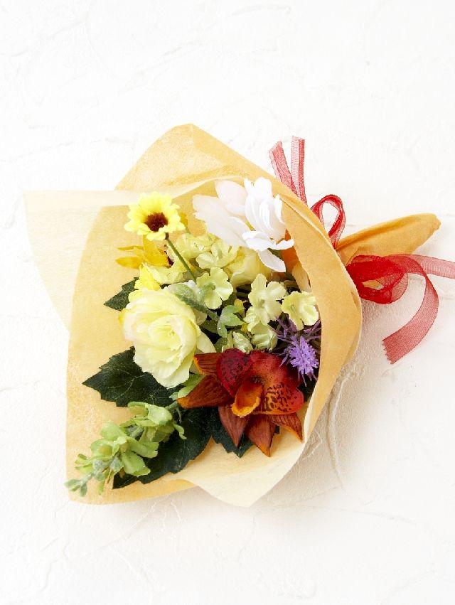 【造花ミニ花束】手のひらブーケ30