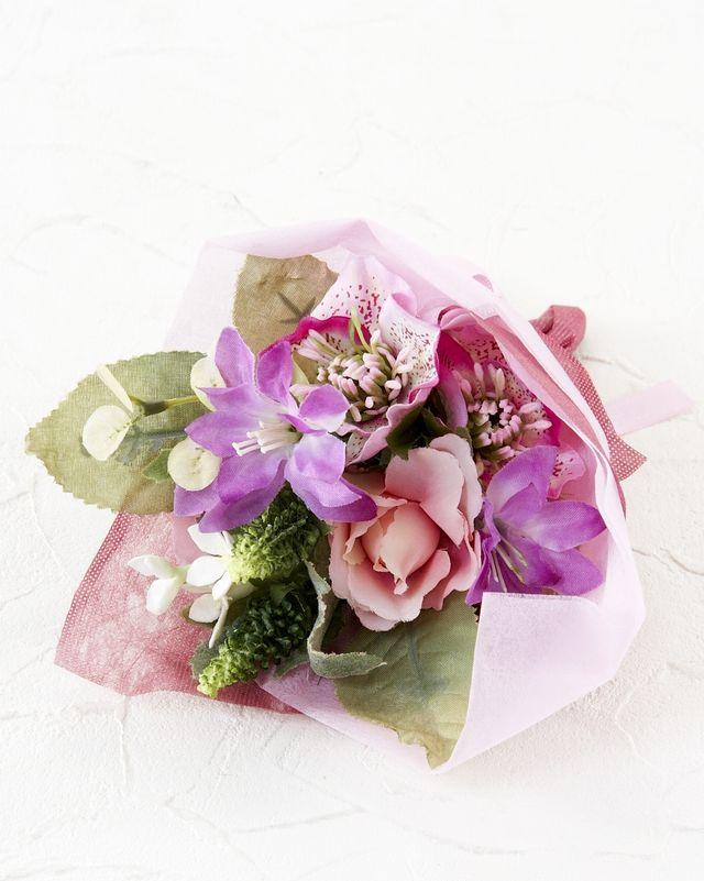 【造花ミニ花束】手のひらブーケ35