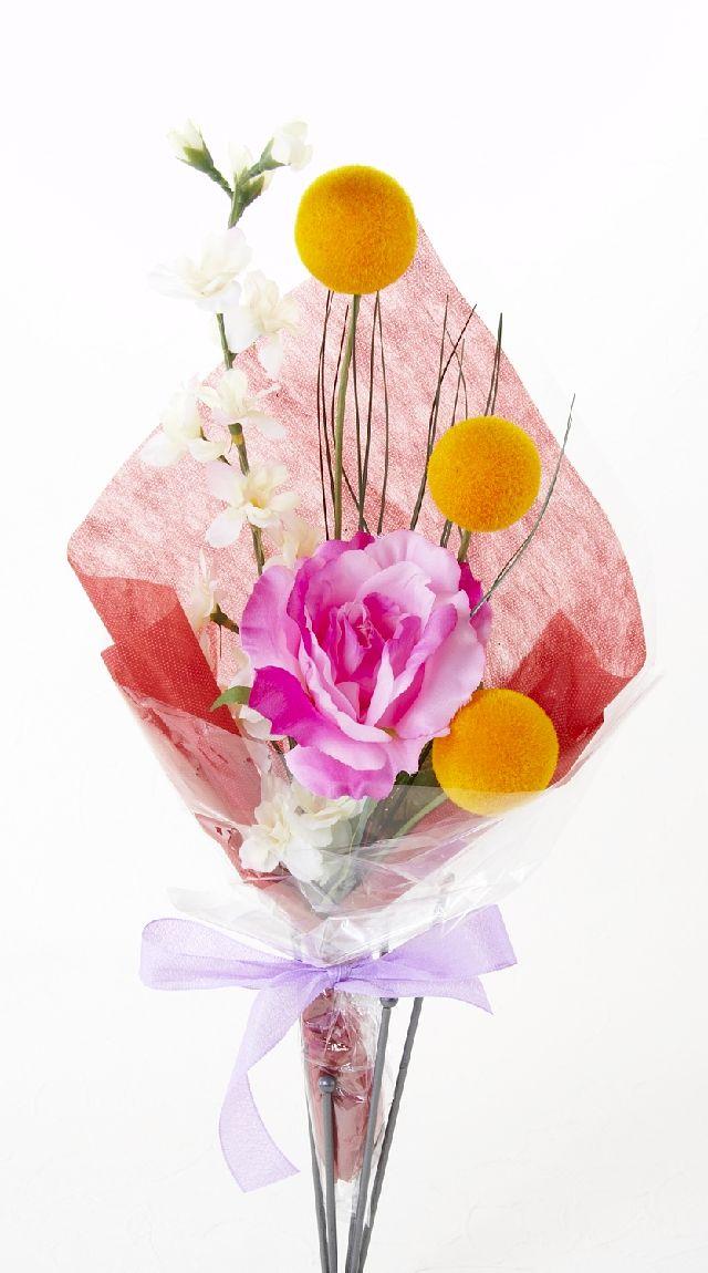 【造花・アーティフィシャルフラワー花束】light bouquet -H