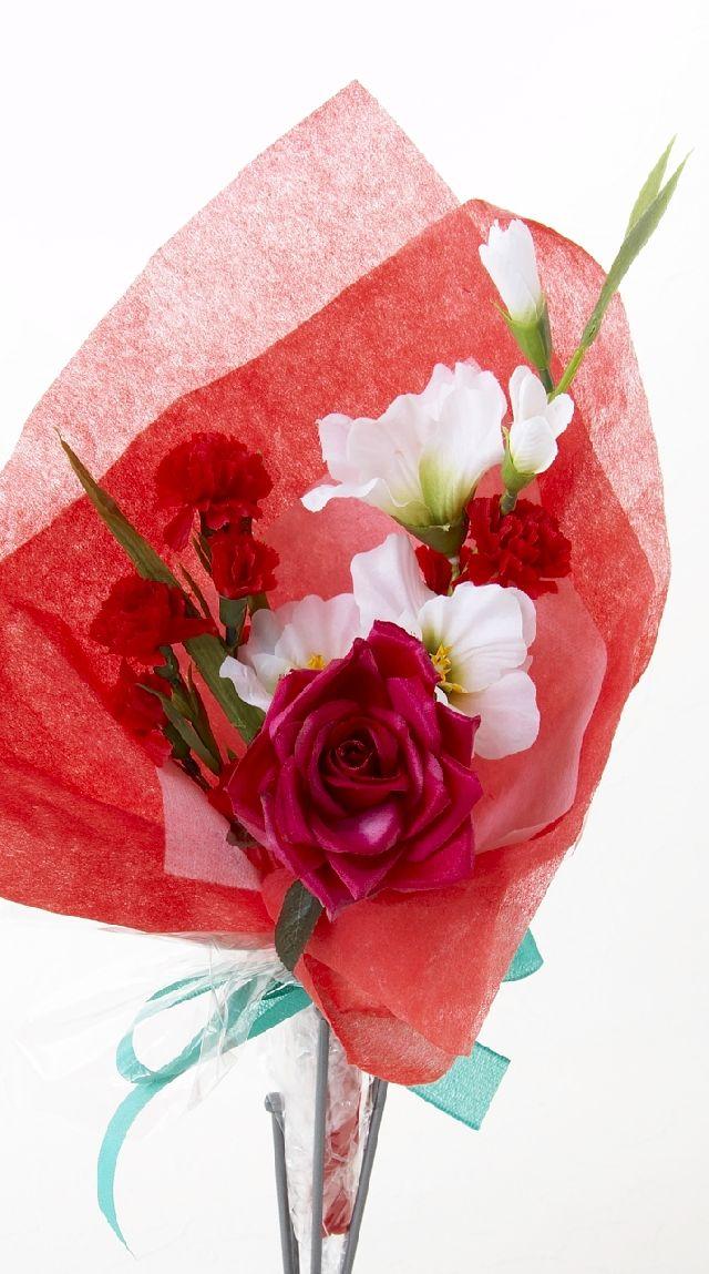 【造花・アーティフィシャルフラワー花束】light bouquet -D