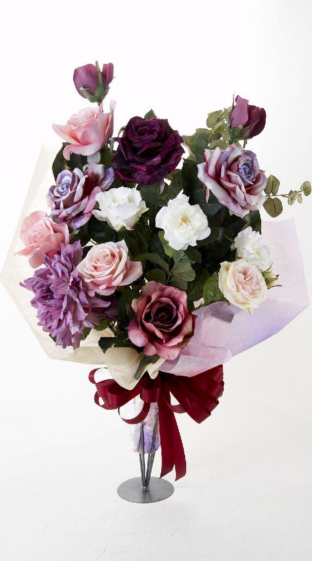 【贈答・贈呈用・ギフトの造花花束】オーロラピンク・ブーケ