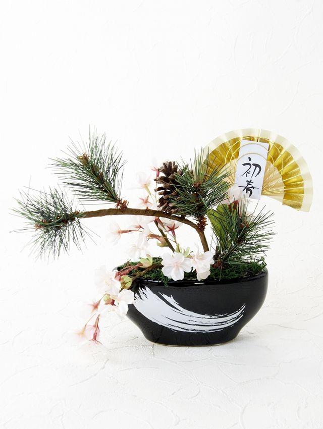 【造花 お正月アレンジメント】泰成