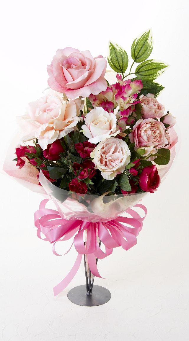 【贈答・贈呈用・ギフトの造花花束】ロマンスピンク・ブーケ